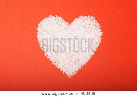 Valentine's Day Heart - Salt In A Heart Shape