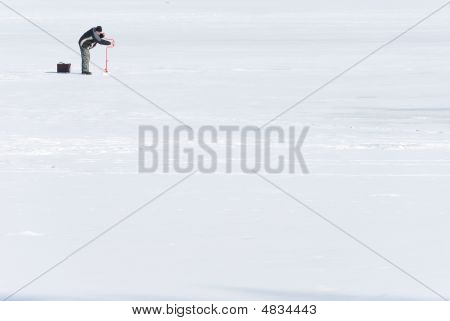 Fisherman On Ice