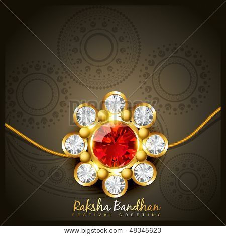 beautiful indian hindu festival of rakshabandhan poster