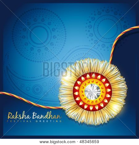 stylish vector hindu rakshabandhan festival background