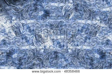 Blue Aged wooden board background