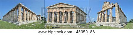 Three ancient temples at Paestum