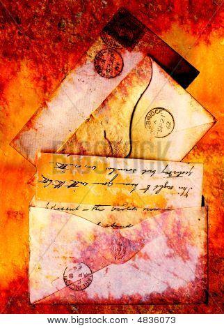 Grunge Victorian Envelopes