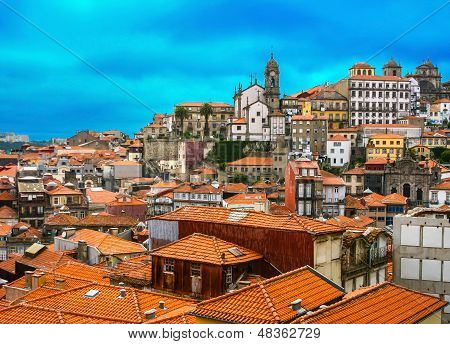 Landscape Of Famous Old Town In Porto, Portugal