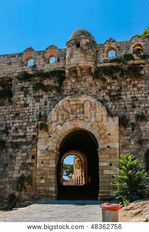 Fortezza Of Rethymno At Crete, Greece