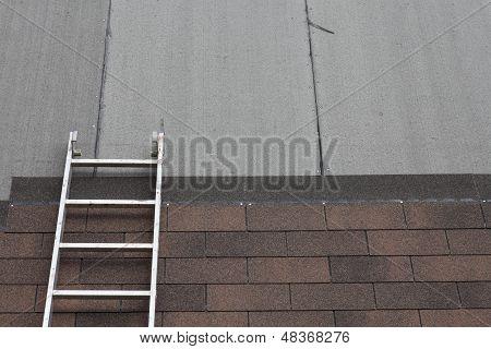 Stepladder On Roof