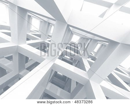 Abstract Architecture Background. Internal Space Of A Modern Braced Construction