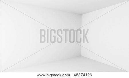 Abstract Architecture Background. Empty White Room Interior