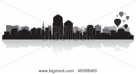 Albuquerque City Skyline Silhouette