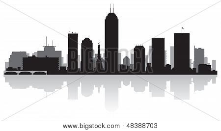Indianapolis City Skyline Silhouette