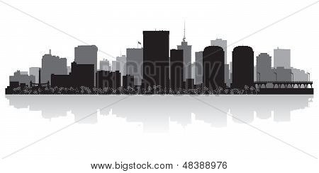 Richmond City Skyline Silhouette