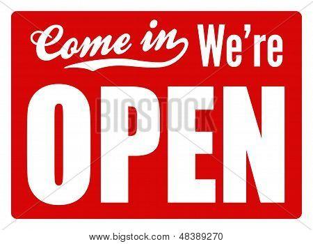 Open Sign - XL