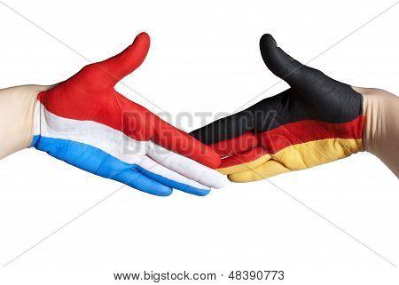 Dutch And German Handshake