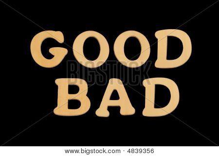 Wooden Word Goodbad