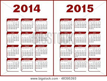 Kalender 2014,2015