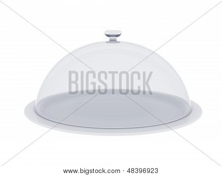 Plate with glass cover