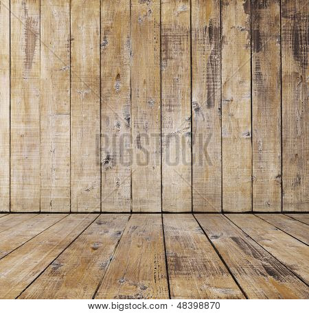 old wooden room, retro background