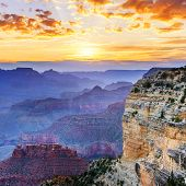 Hopi Point in famous Grand Canyon National Park poster