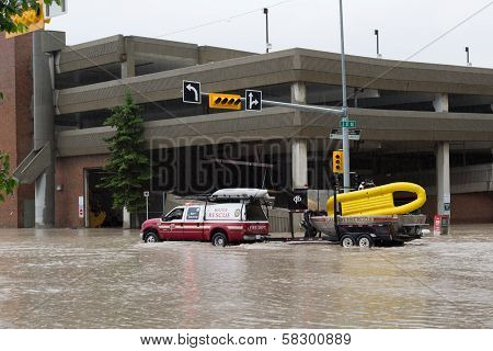 Calgary Fire Department Water Rescue