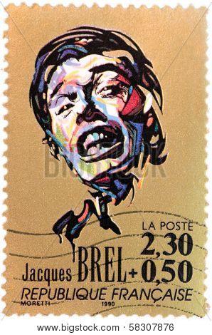 Jacques Brel Stamp