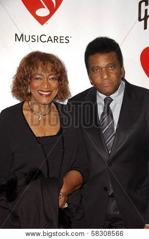 Charley Pride and wife Rozene at the 2007 MusiCares Person of the Year Honoring Don Henley. Los Angeles Convention Center, Los Angeles, CA. 02-09-07