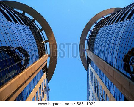 The Two Towers building skyline
