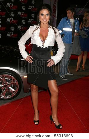Nadia Bjorlin at the performance of Wyclef Jean and The Refugee All-Stars presented by