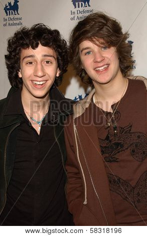 Teo Olivares and Devon Werkheiser at the In Defense of Animals Benefit Concert. Paramount Theater, Hollywood, CA. 02-17-07