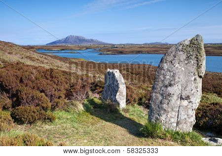 Standing Stones At Pobull Fhinn, Isle Of North Uist