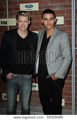 Chord Overstreet and Jacob Artist at the FOX Fall Eco Casino Party 2012, Bookbindery, Culver City, CA 09-10-12