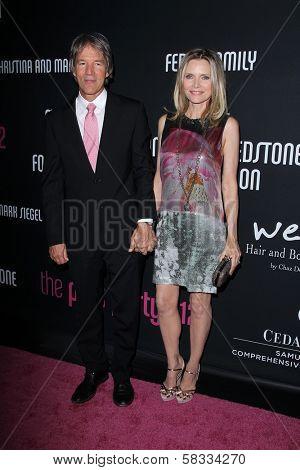 David E. Kelley, Michelle Pfeiffer at the 8th Annual Pink Party, Hangar 8, Santa Monica, CA 10-27-12