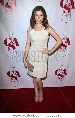 Anna Kendrick at the Casting Society of America Artios Awards, Beverly Hilton, Beverly Hills, CA 10-29-12