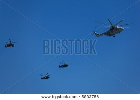 Helicopters In The Skies