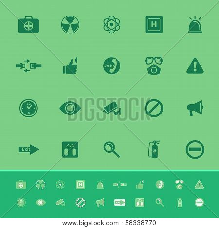 General Healthcare Color Icons On Green Background