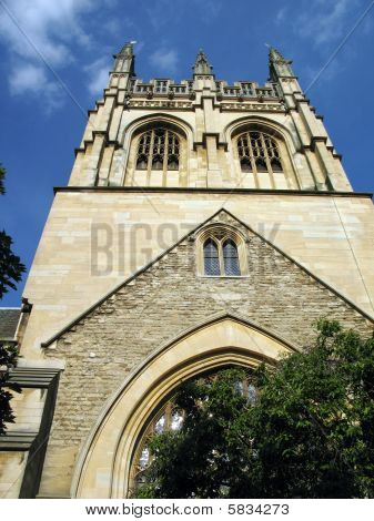 Merton College of Oxford University.  Oxford, England. poster
