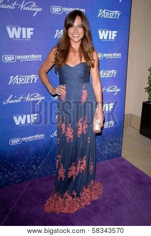Nikki DeLoach at the Variety and Women In Film Pre-Emmy Event, Scarpetta, Beverly Hills, CA 09-21-12