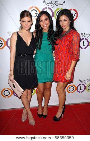 Kate Mara, Kimberly Snyder, Jenna Dewan-Tatum at the GLOW BIO Opening, Glow Bio, West Hollywood, CA 11-14-12