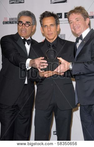 Eugene Levy, Ben Stiller, Martin Short at the 26th American Cinematheque Award Honoring Ben Stiller, Beverly Hilton Hotel, Beverly Hills, CA 11-15-12