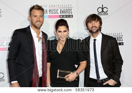 Lady Antebellum at the 40th American Music Awards Arrivals, Nokia Theatre, Los Angeles, CA 11-18-12