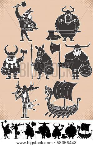 Viking Silhouettes