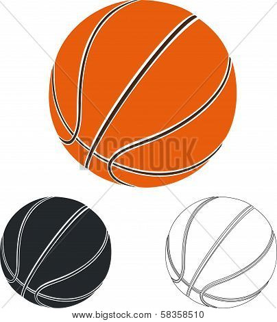 Set of basketball balls