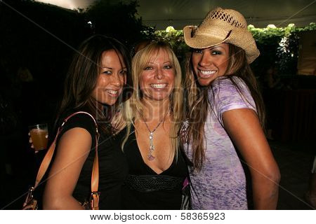 Cristiana Proietti with Gloria Kisel and Traci Bingham at 2006 Safari Brunch Fundraiser For The Wildlife Waystation. Playboy Mansion, Los Angeles, CA. 10-14-06