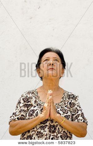 Senior Woman Praying