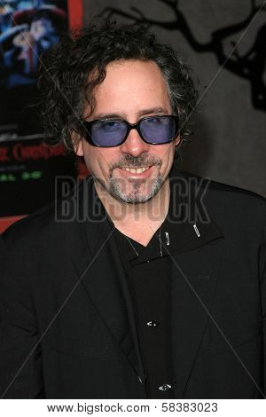 Tim Burton at the World Premiere of