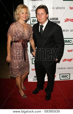 Sonja Magdevski and Emilio Estevez at the 21st Annual American Cinematheque Award Honoring George Clooney. Beverly Hilton Hotel, Beverly Hills, CA. 10-13-06
