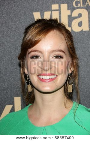 Ahna O'Reilly at the Hollywood Foreign Press Association And InStyle Miss Golden Globe 2013 Party, Cecconi's, Los Angeles, CA 11-29-12
