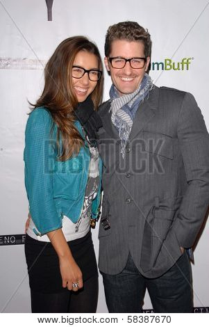 Matthew Morrison with Renee Puente at the