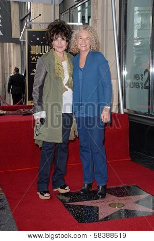 Carole Bayer Sager, Carole King at the Carole King Hollywood Walk Of Fame Ceremony, Hollywood, CA 12-03-12