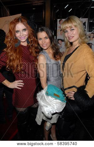 Phoebe Price, Alicia Arden, Rena Riffel at the NOH8 Campaign 4th Anniversary Celebration, Avalon, Hollywood, 12-12-12