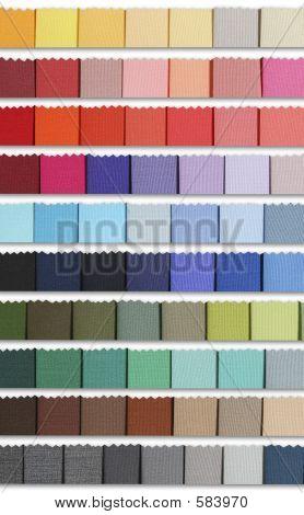 Paleta de amostras de cores da tela